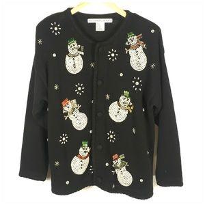 Vintage Snowman Christmas Sweater Victoria Jones